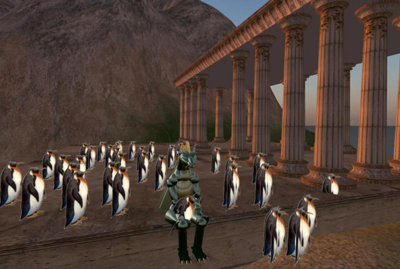 Second Life Image of Penguins